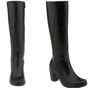 "Dansko Tall Boots ""Tyra"" Calf Boots / Block Heel"